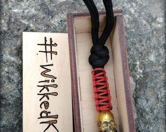 Brass skull bead knife lanyard paracord keychain custom skull bead lanyard paracord keychain brass skull paracord key lanyard