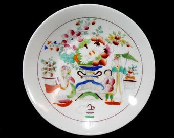 Antique 'Lady with Lyre' Porcelain Saucers by Hilditch & Sons, c. 1819-1835