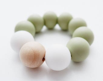 Teething ring - Olive