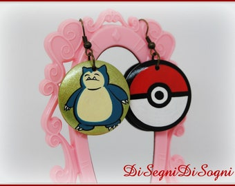 Pokemon SNORLAX Earrings-hand Painted