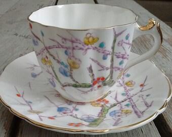 Stanley Fine Bone China England est. 1875 tea cup and saucer circa 1950's