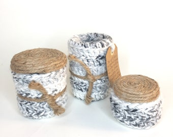 Home Decor, Storage Containers, Decorative Containers, Jars, Crochet,