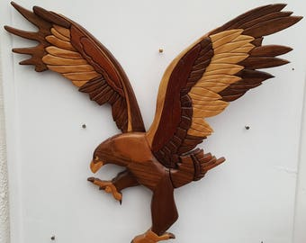 3d intarsia eagle wall decoration