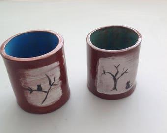 Ceramic 'Cat' Pen/Paintbrush Pot