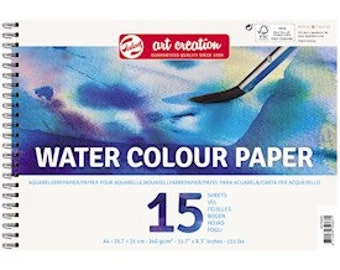 Pad of paper for watercolor painting