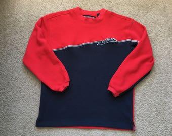 Men's Vintage 90s Marc Buchanan Pelle Pelle Sweatshirt Red Blue Size Large