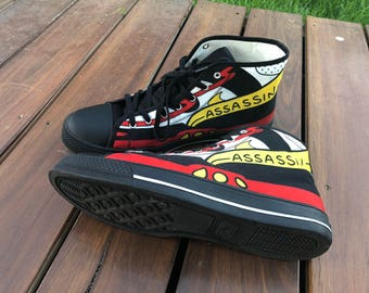 Women's 'The Simpsons' Assassin High Top Sneakers