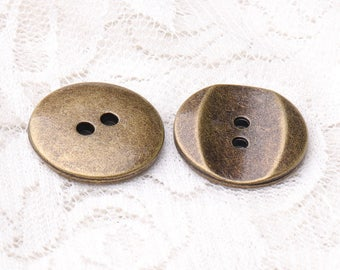 metal zinc alloy buttons 2 holes buttons 10pcs 20mm round bronze buttons sewing clothing buttons