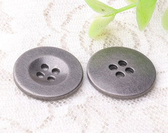 4 holes buttons 10pcs 20mm round light black zinc alloy buttons sewing buttons metal buttons shirt cardigan sweater buttons