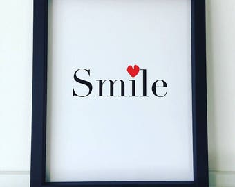 Smile with Heart Print