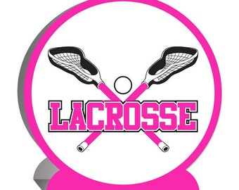 3-D Pink Lacrosse Centerpiece 9.25 in high