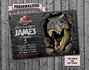 Jurassic World Invitation,Jurassic World Birthday,Jurassic World  Birthday Invitation,Jurassic World Party,Jurassic Park Invitation