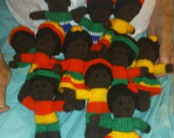 African Knitted Doll