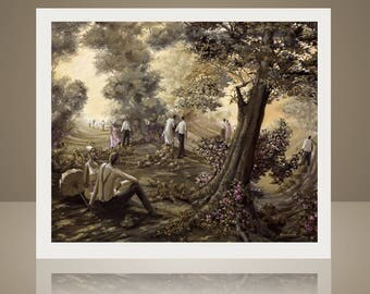 Lovers Lane - African American Art - Lithograph by John Holyfield