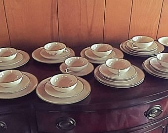 Vintage Mid-century Franciscan China and Crystal