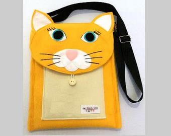 Yellow Cat Travel Bag