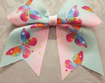 Handmade butterfly cheer bow