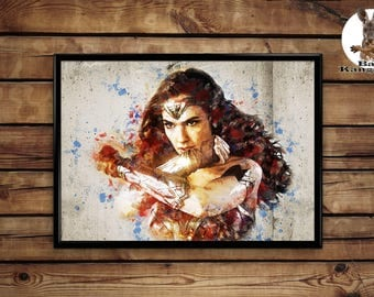 Wonder Woman poster wall art home decor print