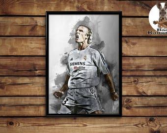 David Beckham poster wall art home decor print