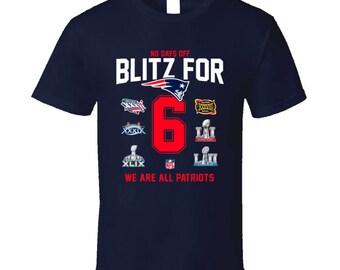 Blitz For 6 New England Patriots 2018 Super Bowl Winners Nfl Custom Fan T Shirts