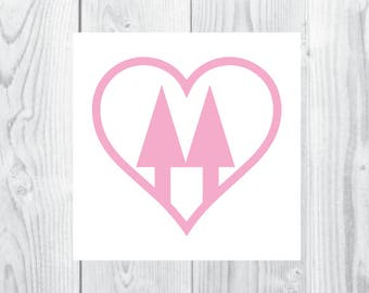 Twin Pines Heart Co-op Decal