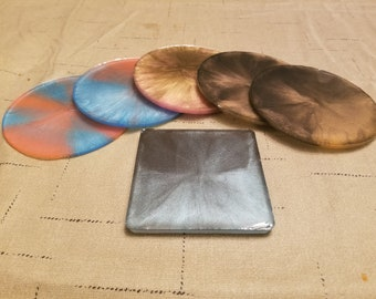 Colored Resin Coasters