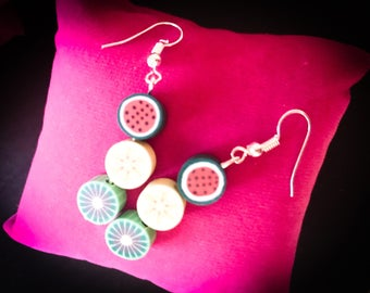 Silver Fruit Earrings