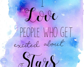 I love people who get excited about stars (print)