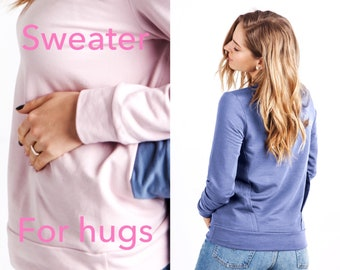 Unique Sweater for Hugs, Anniversary Birthday Gift, Gift idea, Cute Gift for Women Cotton anniversary gift Wedding, Can be personalized