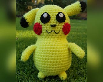 Handmade crochet pikachu doll