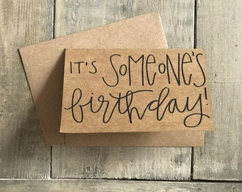 Hand-lettered Birthday Card
