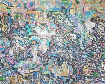 "24"" x 36"" Large Acrylic on Canvas Painting"