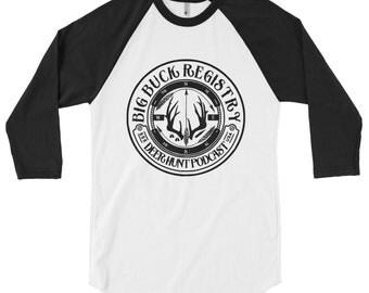 Big Buck Registry 3/4 Sleeve Raglan Shirt