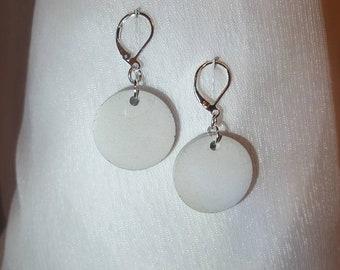 Jewellery-earrings Round pendant concrete