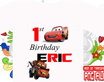 Cars, Cars Iron On Transfer, Boy Birthday Shirt Iron On Transfer, Cars Party Shirt, Cars Design, Personalize Name, Digital File