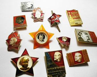 12 Vladimir Lenin collectible pins
