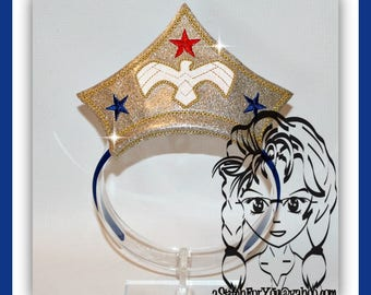 WW FEMaLE SuPER HERo CRoWN ~ In The Hoop Headband ~ Downloadable DiGiTaL Machine Embroidery Design by Carrie