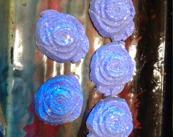 Blue Violet Scented Solid Bubble Bars Set Of 5