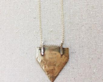 Hammered Shield pendant