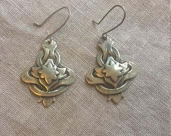 Sterling Silver art nouveau earrings