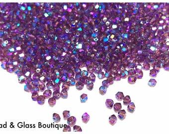 Swarovski Crystal, 3mm Bicone, 36 pcs, *NEW* Amethyst Shimmer 2X