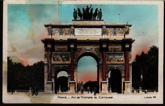 Arc de Triomphe du Carrousel - Lader 48 - Paris, France - Vintage Postcard