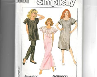 Simplicity Misses' Nightgown In Two Lengths and Pajamas Pattern 8449