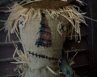 MUSTARD SEED ORIGINALS, Scarecrow, Fall, Halloween, Sunflower, Primitive, Extreme Primitive, Crow, Doll by Sharon Stevens