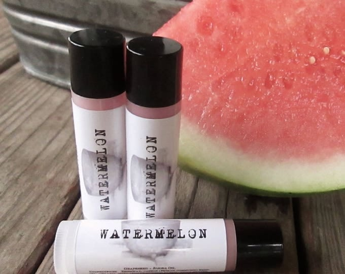 Featured listing image: Lip Balm WATERMELON Lip Butter ... Black Kettle