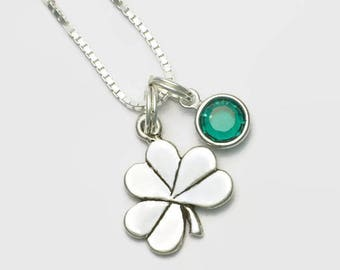 Irish Shamrock Sterling Silver Necklace Choice of Lengths 16, 18 or Inch Gift Boxed