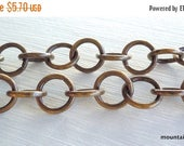 25% OFF Sale Antique Brass 10mm Round Link Chain By the Foot