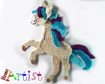 Crochet Applique Horse or Unicorn