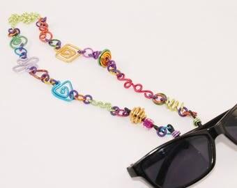 Multicolor Eyeglass Lanyard Necklace Chain Geometric shapes Aluminum Lightweight Fashionable Unique Stylish No. CL14