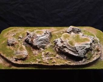 Pre-Painted RockyTerrain Piece:1 Warhammer 40K, D&D,AoS terrain and scenery